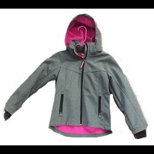 Girls H&M Gray Hooded Coat Size 9-10Y